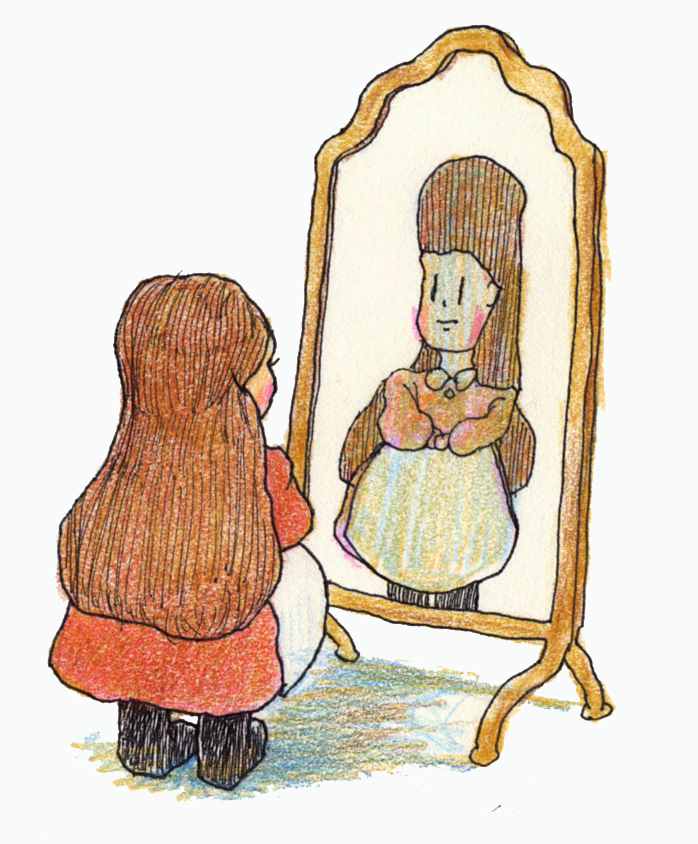 鏡の前091