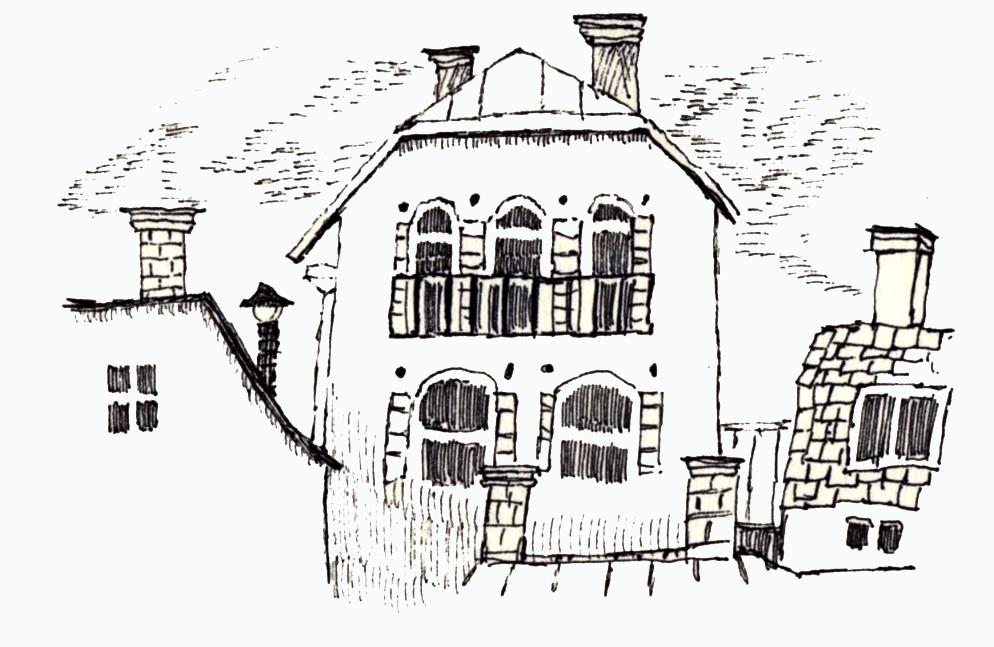夕方の家217